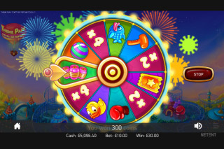 Theme Park Mobile Slot Wheel Bonus