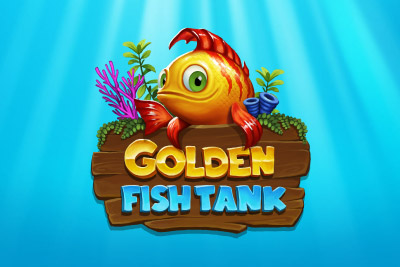 Golden Fish Tank Mobile Slot Logo