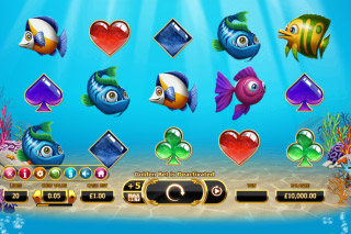 Golden Fish Tank Mobile Slot Reels
