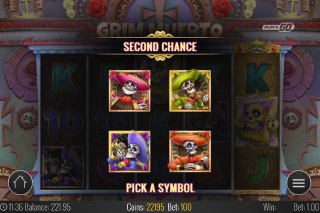 Grim Muerto Mobile Slot Second Chance