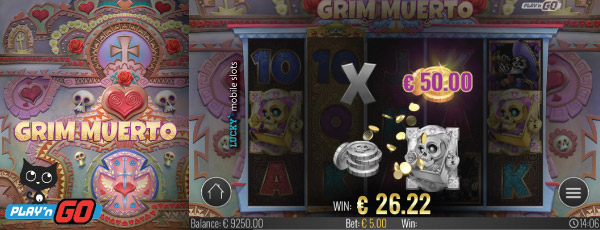 Grim Muerto Mobile Slot Second Chance Preview