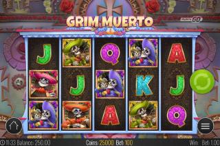 Grim Muerto Mobile Slot Reels