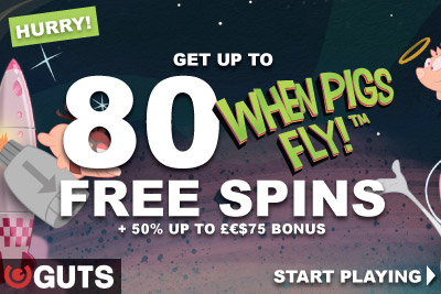 Hurry! Get Your Guts Free Spins Bonus This Weekend