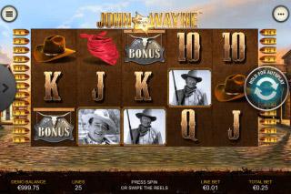 John Wayne Mobile Slot Reels