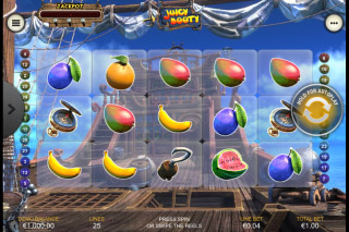 Juicy Booty Mobile Slot Reels