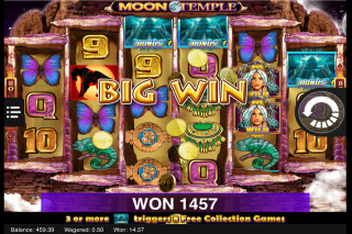 Moon Temple Mobile Slot Big Win