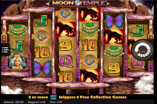 Moon Temple Mobile Slot Reels