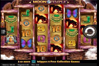 Moon Temple Mobile Slot Reels