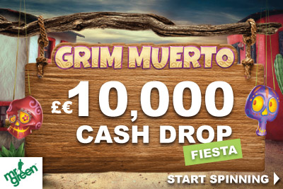 Win A Share Of 10K Mr Green Bonus Playing Grim Muerto