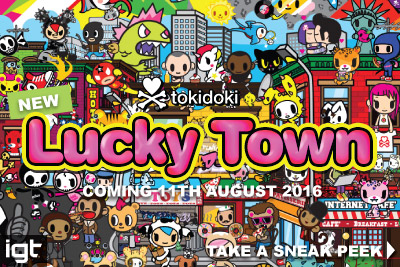 New IGT Tokidoki Lucky Town Mobile Slot Coming August 2016