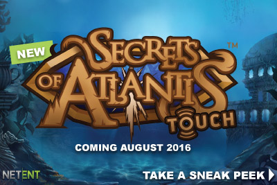 New NetEnt Secrets of Atlantis Touch Slot Coming August 2016