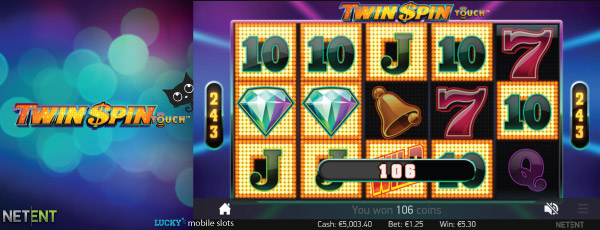 NetEnt Twin Spin Touch Slot Screenshot