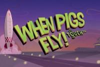 When Pigs Fly Mobile Slot Logo