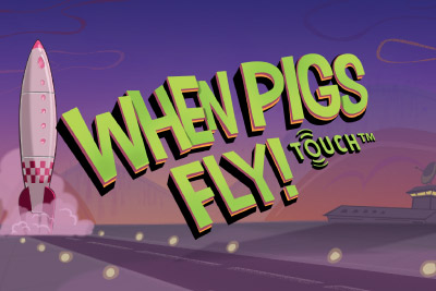 When Pigs Fly Mobile Slot Logo