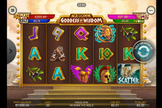 Goddess Of Wisdom Mobile Slot Reels