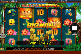 Blazing Goddess Mobile Slot Big Win