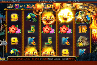 Blazing Goddess Mobile Slot Free Spins