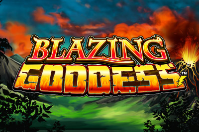 Blazing Goddess Mobile Slot Logo