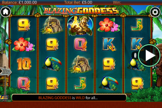 Blazing Goddess Mobile Slot Reels