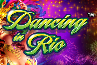 Dancing In Rio Mobile Slot Logo