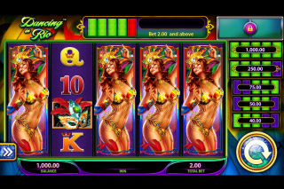 Dancing In Rio Mobile Slot Reels