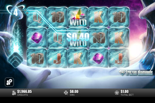 Frozen Diamonds Mobile Slot Bonus Game