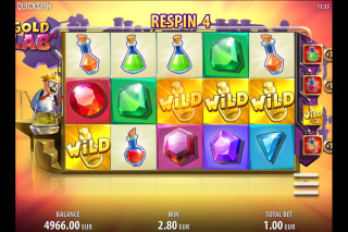 Gold Lab Mobile Slot Wild Respins