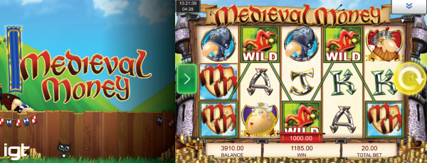 IGT Medieval Money Mobile Slot Screenshot