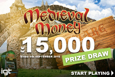 Start Playing In 15K Medieval Money Slot Prize Draw