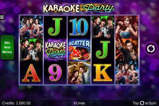Karaoke Party Mobile Slot Reels