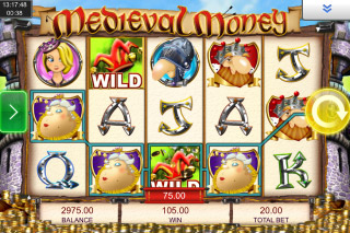 Medieval Money Mobile Slot Reels