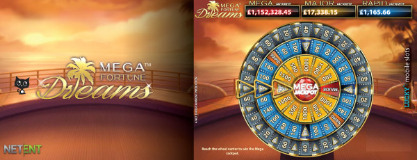 Mega Fortune Dreams Touch Jackpot Bonus Game