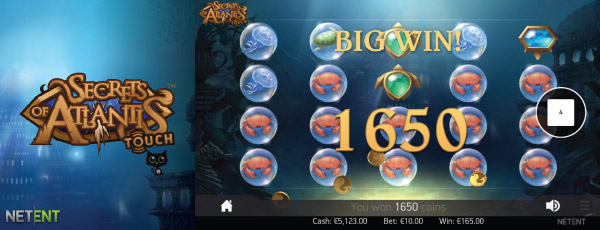 NetEnt Secrets of Atlantis Touch Slot Screenshot