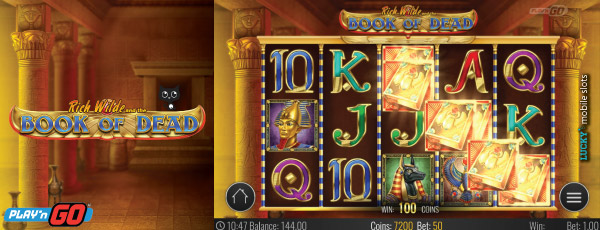 Book of Dead Mobile Slot Game Preview