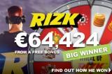 Player Wins Big On Free Casino Bonus At Rizk Casino