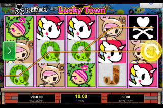 Tokidoki Lucky Town Mobile Slot Reels
