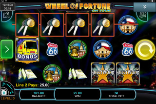 Wheel of Fortune on Tour Mobile Slot Reels
