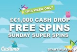 Get Your Casumo Free Spina & Win Up To £€1,000 Cash