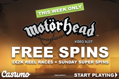 Get Your NetEnt Motorhead Free Spins And More At Casumo Mobile Casino