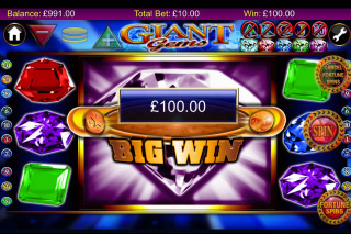 Giant Gems Mobile Slot Big Win