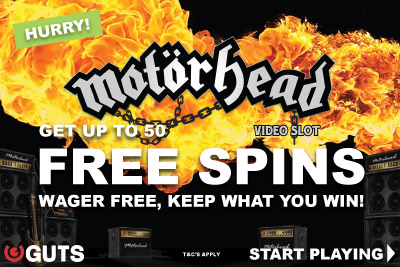 Get Up To Guts Free Spins On Brand New NetEnt Motorhead Video Slot