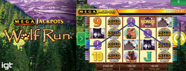 IGT MegaJackpots Wolf Run Mobile Slot Main Game