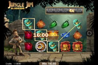 Jungle Jim El Dorado Mobile Slot Win Multipliers