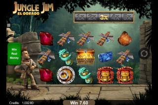 Jungle Jim El Dorado Mobile Slot Reels