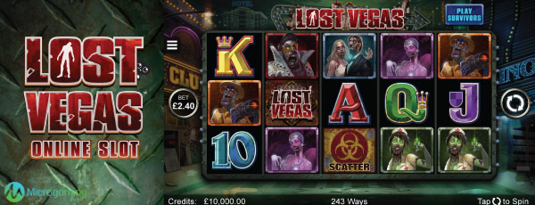 Lost Vegas Mobile Slot Screenshot