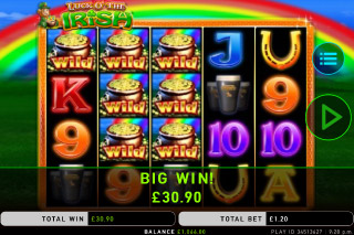 Luck O The Irish Mobile Slot Big Win