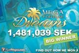 NetEnt Mega Fortune Dreams Casino Jackpot Win