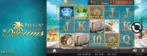 Mega Fortune Dreams Touch Mobile Slot Reels