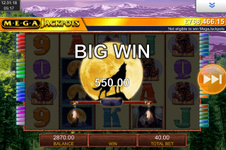 MegaJackpots Wolf Run Mobile Slot Big Win