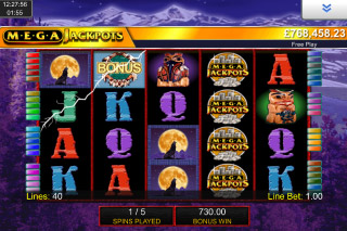 MegaJackpots Wolf Run Mobile Slot Free Spins